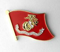 USMC US MARINE MARINE CORPS MARINES SINGLE FLAG LAPEL PIN BADGE 1 INCH