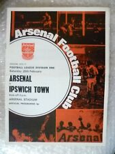 1970-71 Arsenal v Ipswich Town, 20 Feb (League Division One)