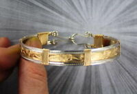 Bracelet in 14kt Rolled Gold and Sterling Silver Unisex Size 6 to 9