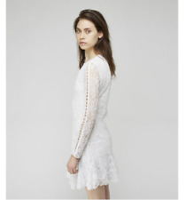 ISABEL MARANT WHITE MAGDA $1850 RARE COLLECTORS LACE DRESS BRODERIE ANGLAISE