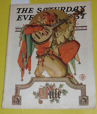 Saturday Evening Post 1931 Jester Leyendecker Yule cover Coke AD Nice Pics See!