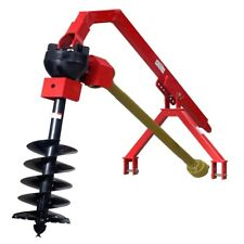 """Post Hole Digger Heavy Duty with 9"""" Auger - CAT1, 3PL for Tractor to 90HP"""
