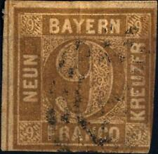 GERMAN STATES  -  BAYERN - 1861/62 - Grande cifra in cerchio.