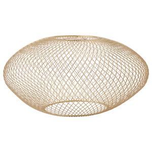 LUFTMASSA Lamp shade, brass-colour oval patterned37 cm