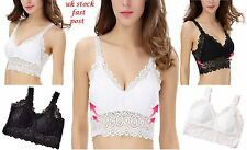 Women Lace Floral Bralette Bralet Bra Bustier Crop Tank Top Cami Padded Gift Uk