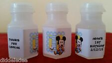 Mickey Mouse 1st First Birthday Bubble labels Party Favors 30 pc