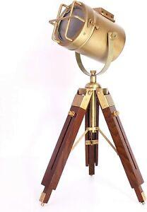 Industrial Style Vintage Spot Light Night Standing Tripod Lamp Home Lighting LED
