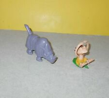 """Burger King The Wild Thornberry's 3""""  Long Rhino & Caveboy Cake Topper  / Toy"""