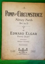 POMP AND CIRCUMSTANCE MILITARY MARCH NO 1 IN D 1902 SHEET MUSIC Piano Duet
