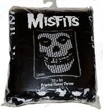 "THE MISFITS Skulls Logo  50"" x 60"" Micro Fleece Throw Blanket Danzig Punk Rock"