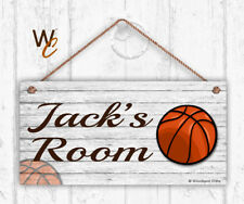 Basketball Sign, Kids Door Sign, Personalized Sign, Kid's Name, Sports 5x10 Sign