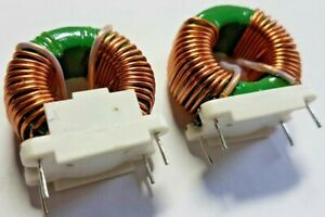 Qty 2 x 2.25mH +/- 30% Inductor Coil, Winding,Toroid,Filter,Choke