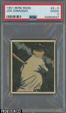 1951 Berk Ross #2-5 Joe DiMaggio New York Yankees HOF PSA 2 GOOD