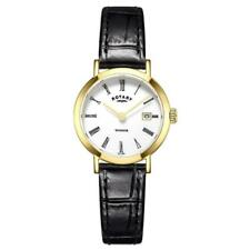 389887f84f69 Rotary Womens Black Leather Strap Round White Ls05303 01 Watch - 17 off