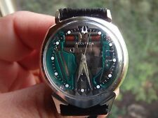 14K SOLID  WHITE GOLD ACCUTRON ALPHA SPACEVIEW....14K SPACEVIEW...14K BULOVA