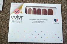 NEW RETIRED Color Street Set- Glitter BLACK CHERRY BONBON