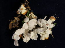 "Vintage Millinery Flower Collection 1 1/2' -2"" Beige White Shabby H1212"