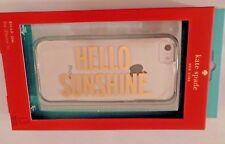 NIP kate spade Snap Case iPhone 5c Sheer Clear Gold Hello Sunshine