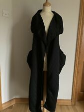 Alembika Quirky Black Lagenlook Quilted Long Gilet Size 1 (UK 10-12 )