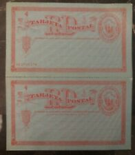 Mint Dominican Republic Postal Stationary Reply Postcard 3 Cents
