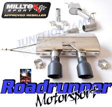 """Milltek Golf MK6 R Cat Back Exhaust 3"""" Course Système RES NON Surdimensionnée Noir SSXVW220"""