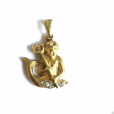 Markenlose Halsketten und Anhänger mit Brillantschliff Echtschmuck aus Gelbgold