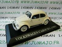 VA3F Voiture 1/43 IXO altaya voitures d'antan VOLKSWAGEN Carocha beetle 1985