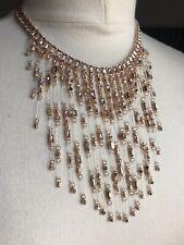 Kendra Scott Maxen Statement Necklace Choker in Rose Gold Blush Mix