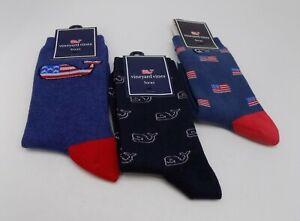 Vineyard Vines  Whale Socks for Boys One Size - SET / LOT 3 PAIRS SOCKS A-9