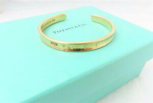 Tiffany & Co 18K Yellow Gold ~7MM Wide Cuff Bracelet With Box