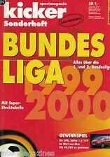 Magazin kicker Sonderheft - Bundesliga 1999/2000,99/00,1.+2. Liga,Stecktabelle
