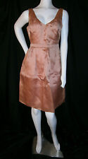J CREW SIZE 6 SILK WOMENS DRESS SALMON PINK SHORT & SASSY FORMAL
