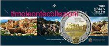 Malta Divisionale BU con il 2€ 2018 Mnajdra logo Malta