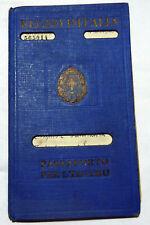 ITALY PASSPORT ITALIAN FASCIST KINGDOM EXPIRED ISSUED 1936 FULL WOMAN RARE