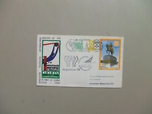 SOCCER sp cancel cover ARGENTINA '78 & First Flight w/dual stamps Argentina-Urug