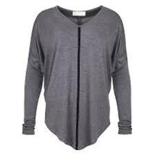 Emmie McCourts Contrast Top Grey Ladies Size Medium Box4552 C