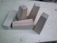 4 Möbelfüsse-Buche massiv-konisch gearbeitet 150x60/40mm