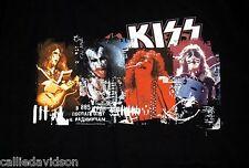 KISS 1970s Concert Photo T-Shirt 2001 XL Gene Simmons Ace Frehley Peter Paul