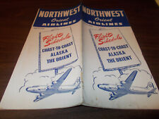 1947 Northwest Orient Airlines Time Table / July 3, 1947