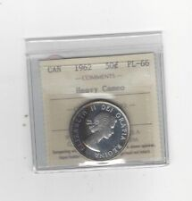 1962, ICCS Graded Canadian Silver 50 Cent, *PL-66 Heavy Cameo*