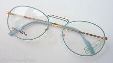 Benetton Damenbrille Tropfenform Markengestell pastellblau Metallrand Grösse M