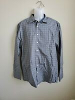 NWOT Haupt Germany Mens Blue Kaleidoscope Dress Shirt Button Down XL Romania
