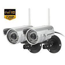 2PCS IP Camera Outdoor Waterproof Security System Wireless CCTV WIFI Night NEW