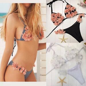 Dicomi Bikini Donna Banda Costume da Bagno Due Pezzi da Bagno Tinta Unita Bikini Imbottito Bikini Donna Mare