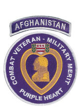 Combat Veteran - Military Merit Patch with Afghanistan Tab - OEF - Ranger - ODA