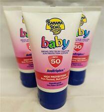 3 x Banana Boat bébé protection solaire lotion SPF50 Crème