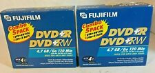2 Boxes of FujiFilm Combo 5 Pack DVD+RW 4.7GB 120Min Data & Video