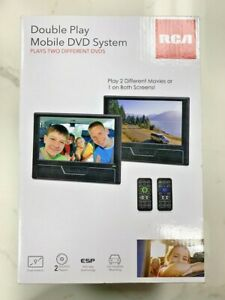 RCA Double Play Mobile DVD System Two 9 inch Screens With Remotes FREE SHIPPING
