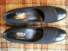 "Munro Womens Size 10.5 SS Black Leather Flats (Heels = 2"")"