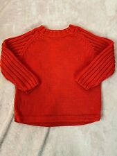 Hanna Andersson Boys Long Sleeve Heavy Ribbed Sweater Size 4 100 Orange